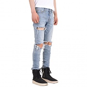 Destroyed Zipper Jeans 002
