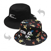 HAWAIIAN FLOWER BUCKET HAT-REVERSIBLE