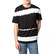 SPRAY STRIPE S/SL TEE-BLK