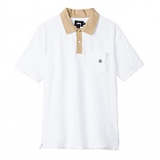 REVERSE TERRY POLO-WHT