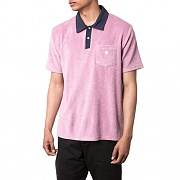 REVERSE TERRY POLO-MAUVE