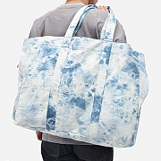 ACID WASH BEACH TOTE BAG-INDIGO