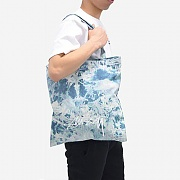BLEACHED DENIM TOTE BAG-INDIGO