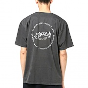 OLD STAMP PIG DYED TEE-BLK