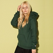 POWERBLEND FLEECE FULL ZIP HOODIE-DARK GREEN