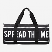 SLOGAN M.DUFFLE BAG - BLACK
