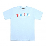 KNOCK-OFF S/S TEE-LIGHT BLUE