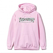 ROSES PULLOVER HOOD-LIGHT PINK