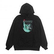 LIBERTY GOAT PULLOVER HOOD-BLACK