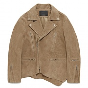CUT OFF TERRY RIDERS JACKET GS [BEIGE]