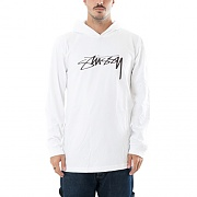 SMOOTH STOCK LS HOOD TEE-WHITE