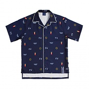 RTW PIPING BOWLING SHIRT_NAVY