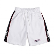 SIDE LINE SWEAT SHORTS_WHITE