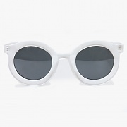 CIRCLE SUNGLASSES (WHITE)