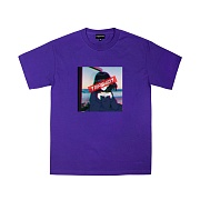 TRIPSHION ANGUISH EYES T-SHIRTS - PURPLE