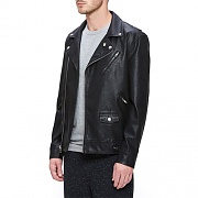 (121800239)BASTARDS PU JACKET-BLACK