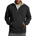 POWERBLEND FLEECE 1/4 ZIP-BLK
