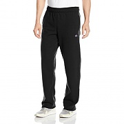 POWERBLEND FLEECE OPEN BTTM PANT-BLK