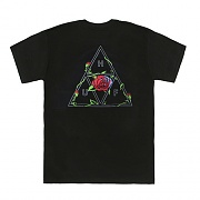 ROSES TRIPLE TRIANGLE TEE-BLK