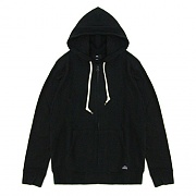 (111620027)LOFTY COMFORTS ZIP HOOD-BLACK