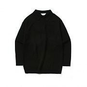 (Unisex) [퍼퓸니트] Basic Collar Knit_Black