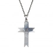 #125  A SIGNET CROSS NECKLACE