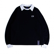 RTW COLLAR SWEAT SHIRT_NAVY