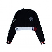 FOREVER YOUNG CROP SWEAT SHIRT_NAVY