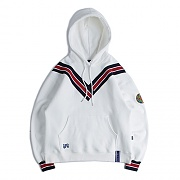 BAND LINE HOODIE_WHITE