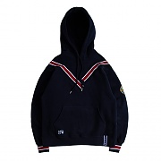 BAND LINE HOODIE_NAVY
