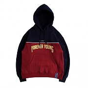 FOREVER YOUNG PIPING HOODIE_BURGUNDY