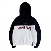 FOREVER YOUNG PIPING HOODIE_WHITE