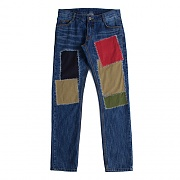 PATCHWORK SLIM STRAIGHT PANTS