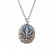 #130 92.5 CANNABIS NECKLACE