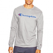 COTTON LONG SLEEVE TEE-O.GRAY