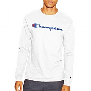 COTTON LONG SLEEVE TEE-WHT