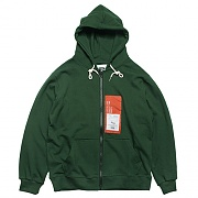 PATCH LABEL HOOD ZIP-UP-GREEN