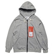 PATCH LABEL HOOD ZIP-UP-GRAY