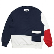 COLOR BLOCK SWEAT-SHIRTS-NAVY