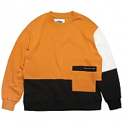 COLOR BLOCK SWEAT-SHIRTS-YELLOW