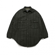[10/20일 예약발송](Unisex) Melton Shirt Coat_Check