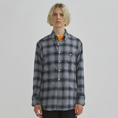 OMBRE CHECK SHIRTS GA [GREY](GAVS03)