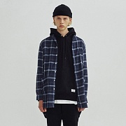 PLAID LONG CHECK SHIRTS GA [NAVY](GAVS02)