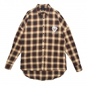 FLAME ROSE FLANNEL CHECK SHIRT YELLOW