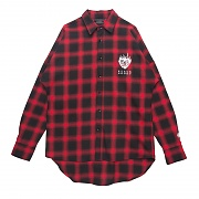 FLAME ROSE FLANNEL CHECK SHIRT RED