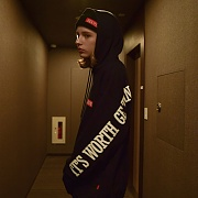 SENTENCE HOODED SWEATSHIRT_NAVY