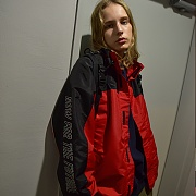 REFLECTIVE WINDBREAKER JACKET_RED