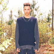 TOGGLE KNIT VEST(NAVY)