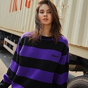 MADMARS STRIPE KNIT_PURPLE