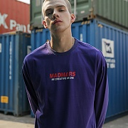 LOGO LONG SLEEVE SHIRTS_PURPLE
